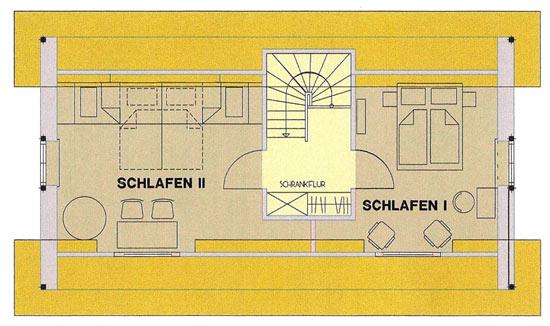Grundriss - Obergeschoss Lütt Hüsing